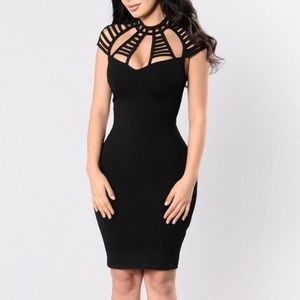 Fashion Nova high neck bodycon midi dress